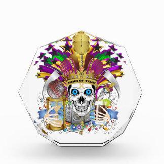 Trofeo Acrílico Carnaval el rey del tiempo
