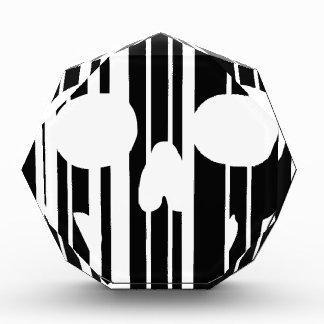 Trofeo Acrílico Cráneo del código de barras