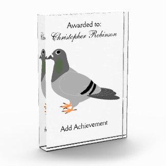 Trofeo Acrílico Diseño personalizado de la paloma