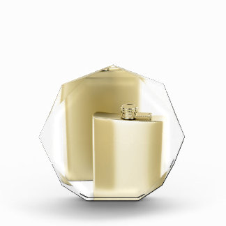 Trofeo Acrílico Dos frascos de oro de la cadera