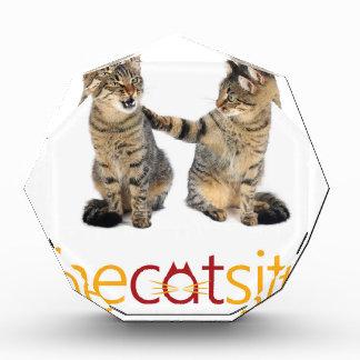 Trofeo Acrílico Dos gatos