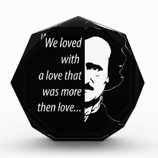 Trofeo Acrílico Edgar Allan Poe