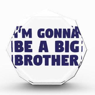 Trofeo Acrílico El ir a ser un hermano mayor
