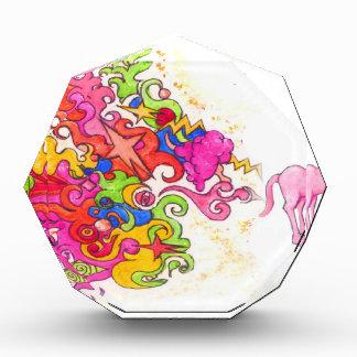 Trofeo Acrílico El unicornio Fart