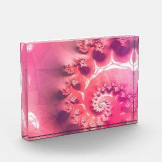 Trofeo Acrílico Helado rosado para 21 sabores de Fibonacci