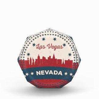 Trofeo Acrílico Horizonte retro de Las Vegas