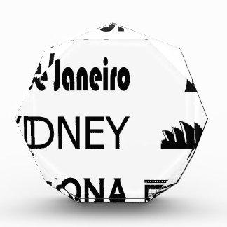 Trofeo Acrílico Icono-Río-Sidney