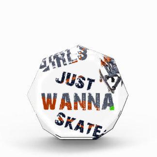 Trofeo Acrílico Los chicas apenas quieren patinar