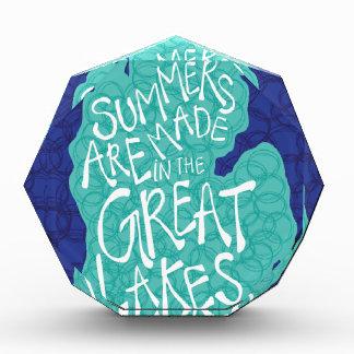 Trofeo Acrílico Los veranos se hacen en los Great Lakes - delantal