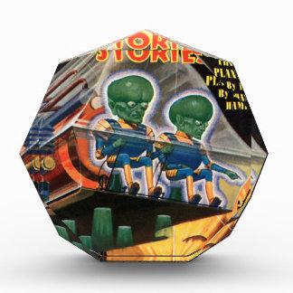 Trofeo Acrílico Martian van para un paseo