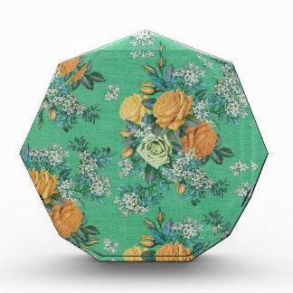Trofeo Acrílico modelo floral del tema de las flores elegantes del
