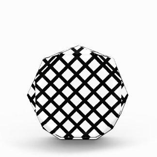 Trofeo Acrílico Modelo simple blanco y negro