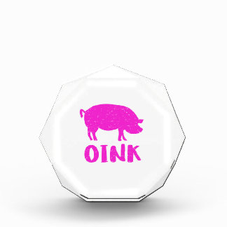 Trofeo Acrílico Oink cerdo