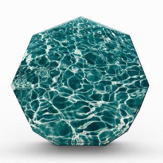 Trofeo Acrílico Ondas frescas de la piscina
