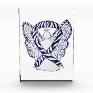 Trofeo Acrílico Pisapapeles del ángel de la cinta de la conciencia