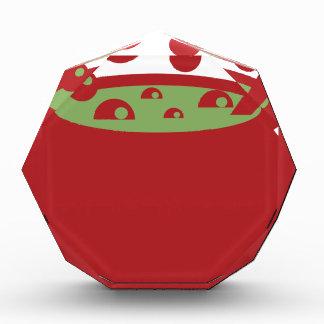 Trofeo Acrílico Pote de cocinar rojo y verde