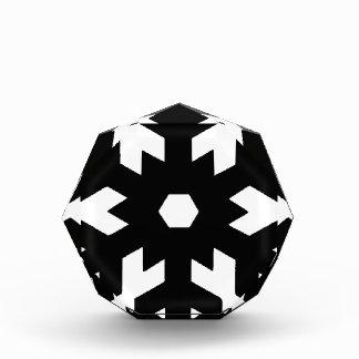 Trofeo Acrílico Silueta del copo de nieve
