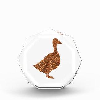 Trofeo Acrílico Símbolos de GoodLuck:  El ganso de oro de los