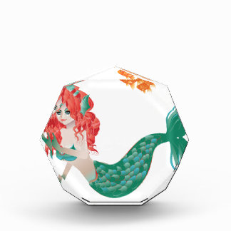 Trofeo Acrílico Sirena pelirroja 2