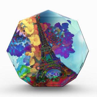 Trofeo Acrílico Sueños de París de flores