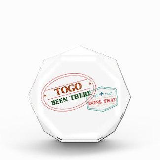 Trofeo Acrílico Togo allí hecho eso
