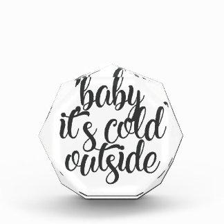 Trofeo Bebé es exterior frío