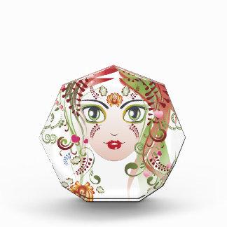 Trofeo Cara floral 2 del chica