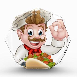 Trofeo Cocinero del dibujo animado con Kebab