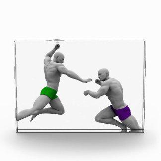 Trofeo Concepto de los artes marciales para luchar y la