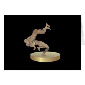 Trofeo de lucha tarjeton