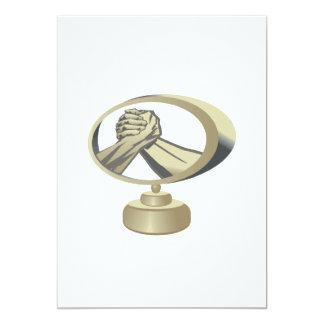 Trofeo del pulso invitación 12,7 x 17,8 cm