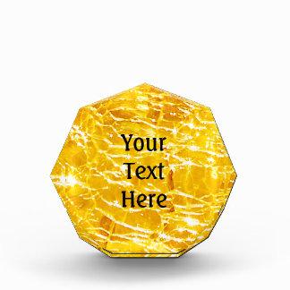 Trofeo Diseño de cristal Crackled ambarino