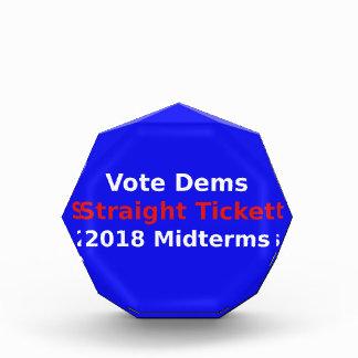 Trofeo Elecciones Midterm de Demócrata del voto en 2018