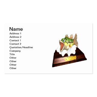 Trofeo grande del bajo de la boca tarjetas de visita