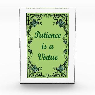 Trofeo La paciencia es una virtud
