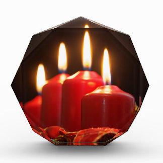 Trofeo Las velas rojas de un advenimiento enrruellan con