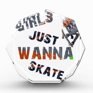 Trofeo Los chicas apenas quieren patinar