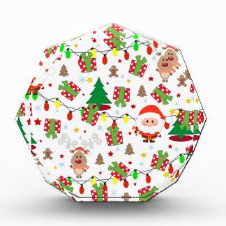Trofeo Modelo de Santa y de Rudolph