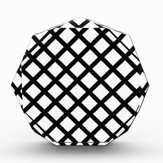 Trofeo Modelo simple blanco y negro