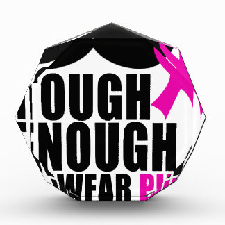 Trofeo Para llevar el rosa para la conciencia del cáncer
