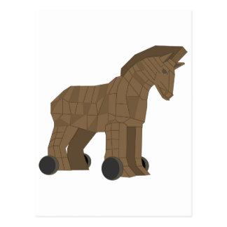 Trojan Horse de madera Postal