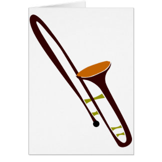 Trombone retro de los años 50 tarjeta de felicitación