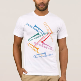 Trombones coloridos camiseta