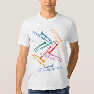 Trombones coloridos camisetas