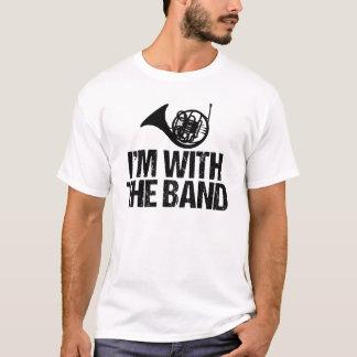 Trompa divertida estoy con la banda camiseta