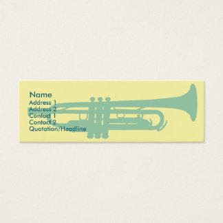 Trompeta - flaca tarjeta de visita pequeña