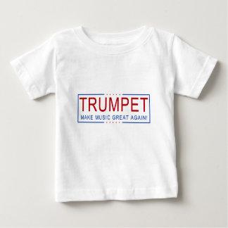 ¡TROMPETA - haga la música grande otra vez! Camiseta De Bebé