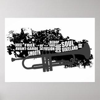 Trompeta y estilos póster