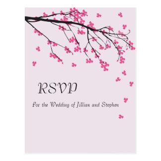 Tronco de la flor de cerezo - postal de RSVP