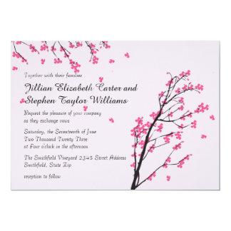 Troncos de la flor de cerezo - invitación del boda